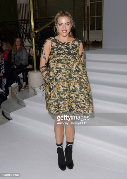 Olivia Cox attends the Paul Costelloe show during London Fashion Week September 2017 on September 18 2017 in London England