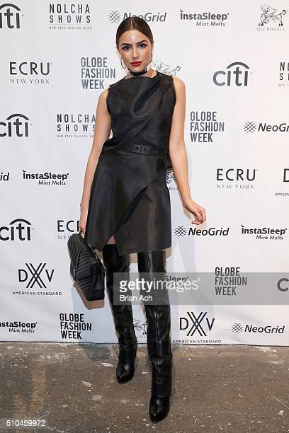 Olivia Culpo Actress wearing a Di Yusupoff design attends the Nolcha Shows during New York Fashion Week Women's Fall/Winter 2016 presented By Neogrid...