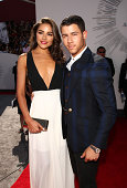 Olivia Culpo and actor/singer Nick Jonas attend the 2014 MTV Video Music Awards at The Forum on August 24 2014 in Inglewood California