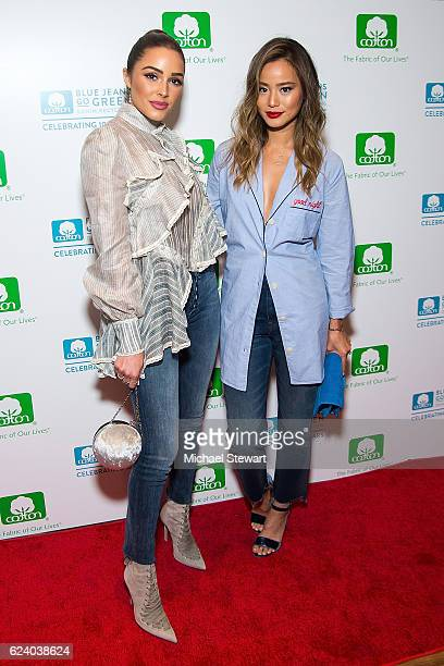 Olivia Culpo and actress Jamie Chung attend the 10th Anniversary of the Blue Jeans Go Green Denim Recycling Program celebration on November 17 2016...