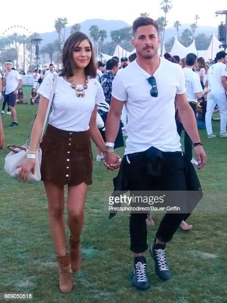 Olivia Culpo and Danny Amendola are seen on April 15 2017 in Los Angeles California