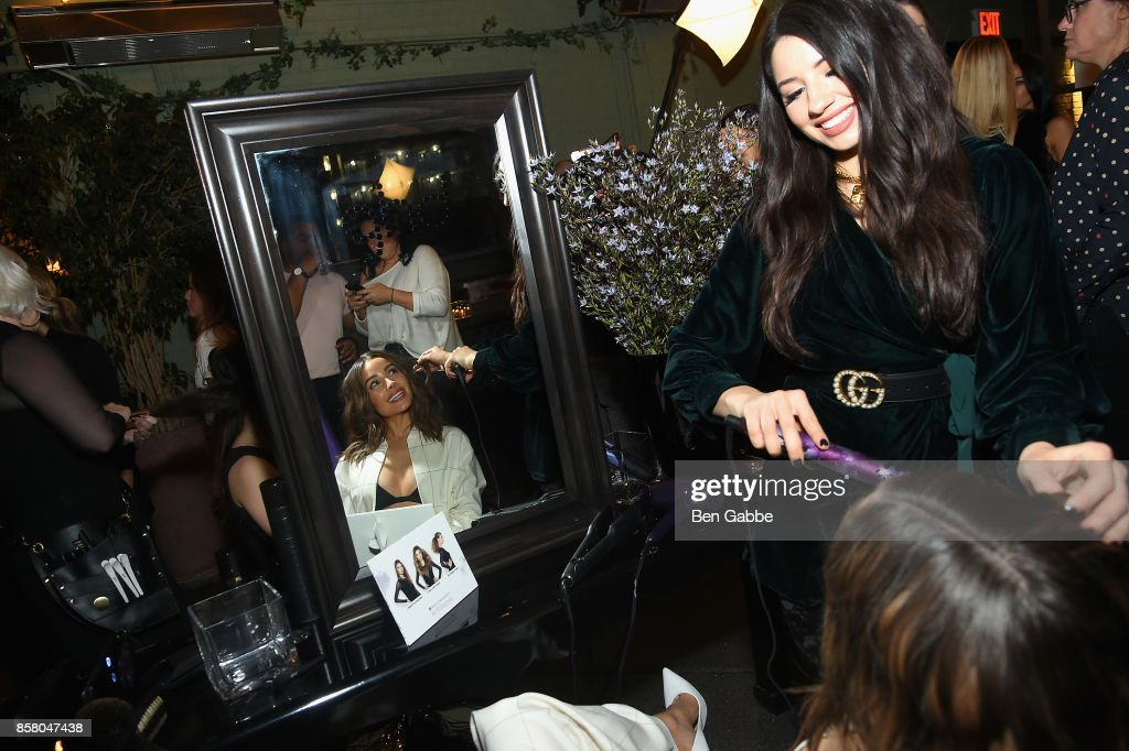 Olivia Culpo and Justine Marjan attend the launch of ghd hair North America Nocturne Holiday Campaign with Olivia Culpo & Justine Marjan on October 5, 2017 in New York City.