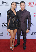Olivia Culpo and Nick Jonas arrive at the 2015 Billboard Music Awards at MGM Garden Arena on May 17 2015 in Las Vegas Nevada