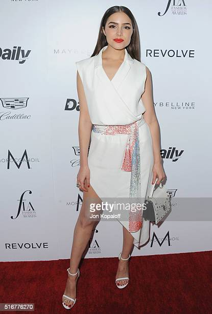 Olivia Culpo arrives at The Daily Front Row 'Fashion Los Angeles Awards' 2016 at Sunset Tower Hotel on March 20 2016 in West Hollywood California