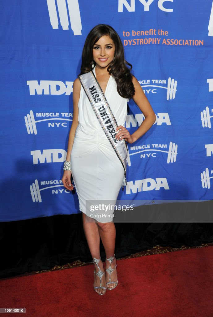Olivia Culpo attends 16th Annual MDA Muscle Team Gala and Benefit Auction at Pier 60 on January 8, 2013 in New York City.