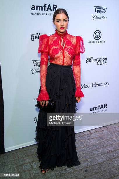 Olivia Culpo attends amfAR generationCURE Solstice 2017 at Mr Purple on June 20 2017 in New York City