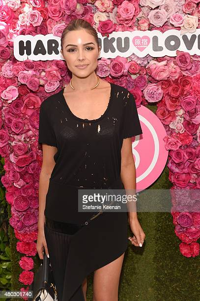 Olivia Culpo attends Harajuku Lovers #PopElectric High Tea at The Ebell Club of Los Angeles on July 10 2015 in Los Angeles California