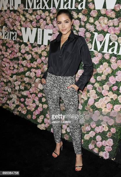 Olivia Culpo attends Max Mara and Vanity Fair's celebration of Women In Film's Face of the Future Award recipient Zoey Deutch at Chateau Marmont on...