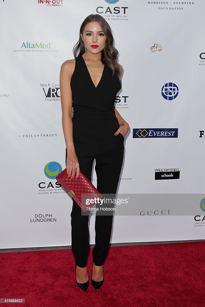 Olivia Culpo attends the 17th annual CAST from slavery to freedom gala May 21, 2015 in Los Angeles, California.