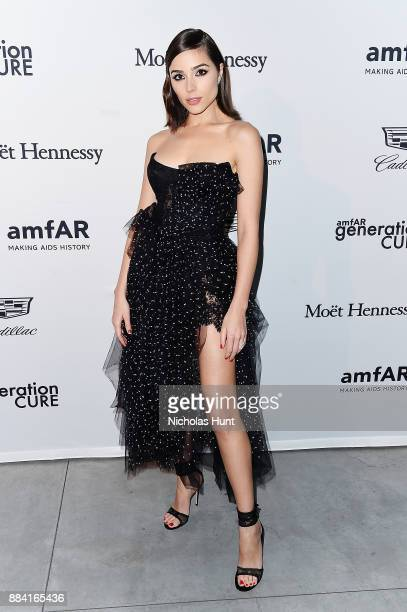 Olivia Culpo attends the 2017 amfAR generationCURE Holiday Party on December 1 2017 in New York City