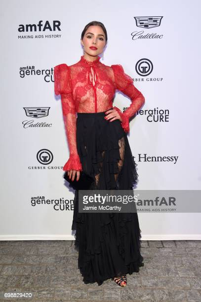 Olivia Culpo attends the amfAR generationCURE Solstice 2017 at Mr Purple on June 20 2017 in New York City