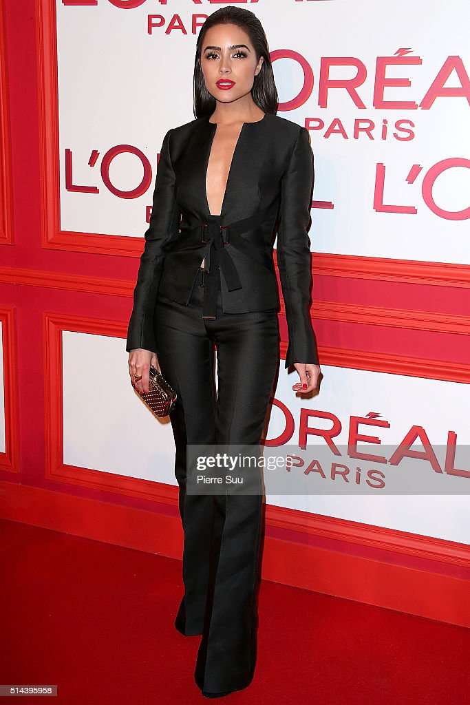 <a gi-track='captionPersonalityLinkClicked' href=/galleries/search?phrase=Olivia+Culpo&family=editorial&specificpeople=9194131 ng-click='$event.stopPropagation()'>Olivia Culpo</a> attends the L'Oreal Red Obsession Party - Photocall as part of the Paris Fashion Week Womenswear Fall/Winter 2016/2017 on March 8, 2016 in Paris, France.