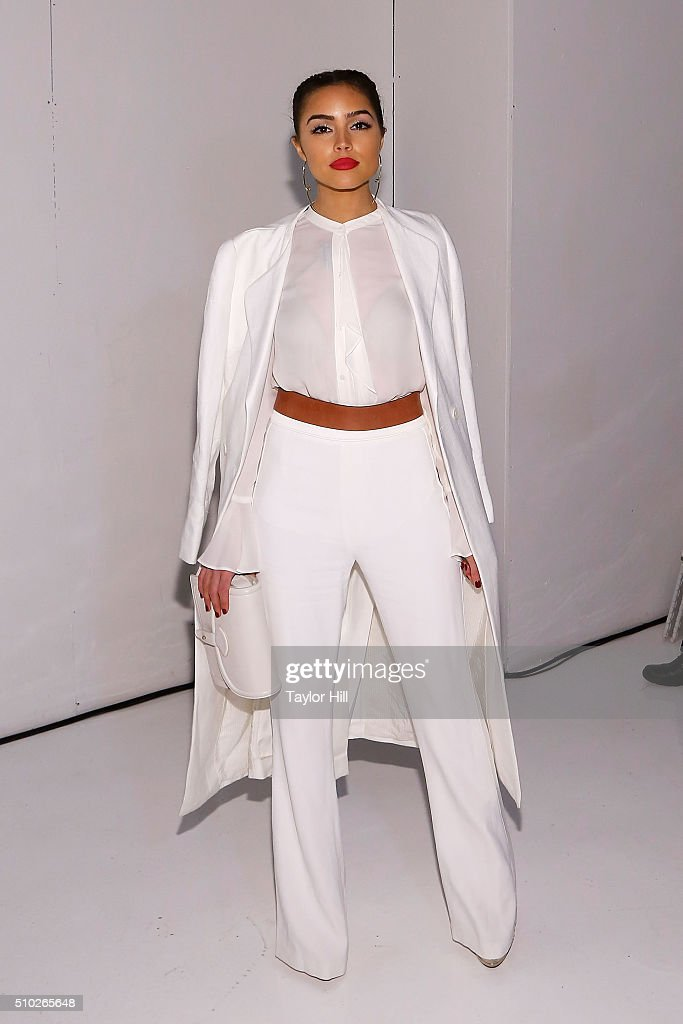 <a gi-track='captionPersonalityLinkClicked' href=/galleries/search?phrase=Olivia+Culpo&family=editorial&specificpeople=9194131 ng-click='$event.stopPropagation()'>Olivia Culpo</a> attends the Rachel Zoe Fall 2016 New York Fashion Week presentation at The Space, Skylight at Clarkson Sq on February 14, 2016 in New York City.