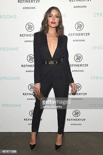 Olivia Culpo attends the Refinery29 presentation of 29Rooms a celebration of style and culture during NYFW 2015 on September 10 2015 in Brooklyn New...