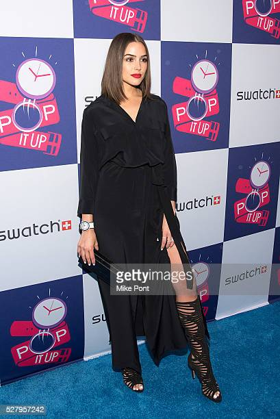 Olivia Culpo attends the Swatch A Night of POP Store Opening on May 03 2016 in New York New York