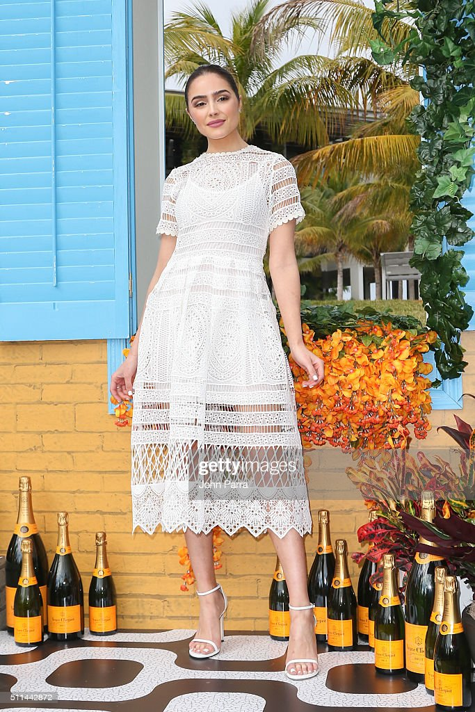 Olivia Culpo attends Veuve Clicquot Hosts SecondAnnual Clicquot Carnaval in Miami at Museum Park on February 20 2016 in Miami Florida