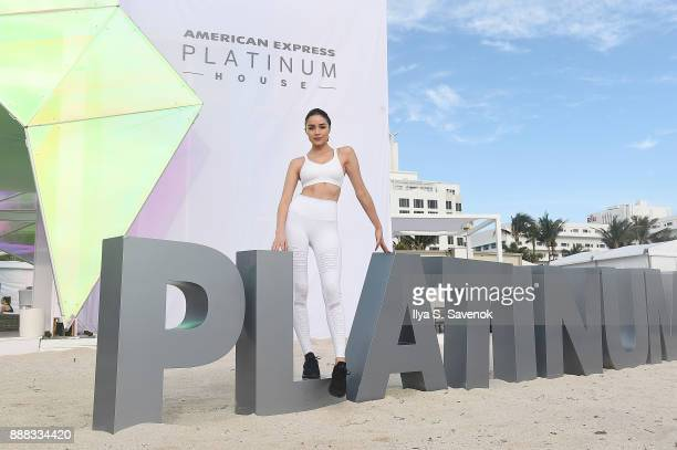 Olivia Culpo attends WellGood at American Express Platinum House at Miami Beach EDITION on December 8 2017 in Miami Beach Florida