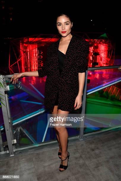 Olivia Culpo celebrates Miami Art Week at the American Express Platinum House at The Miami Beach EDITION on December 7 2017 in Miami Beach Florida