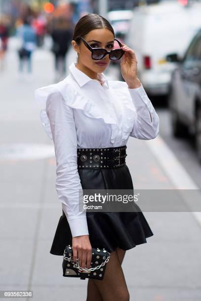 Olivia Culpo is seen in Midtown on June 7 2017 in New York City
