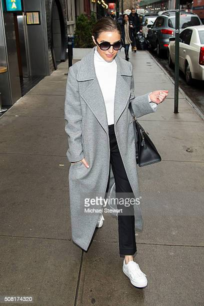 Olivia Culpo is seen in the Meatpacking District on February 3 2016 in New York City