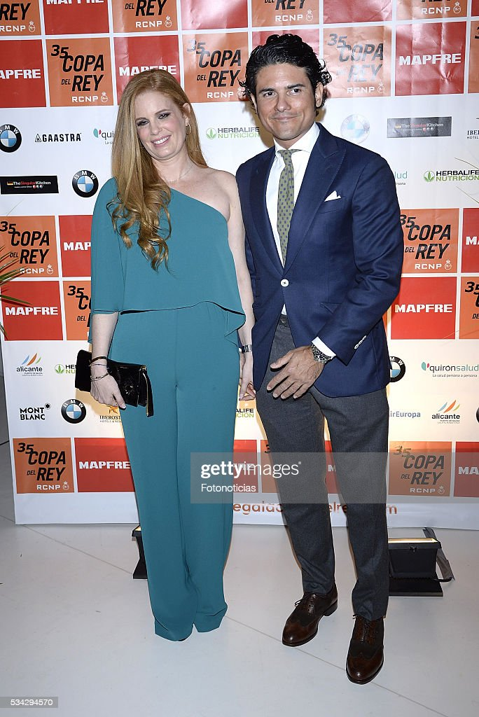 Olivia de Borbon and Juan Porras attend the XXXV Copa del Rey Mapfre sailing trophy presentation at Las Letras Hotel on May 25, 2016 in Madrid, Spain.