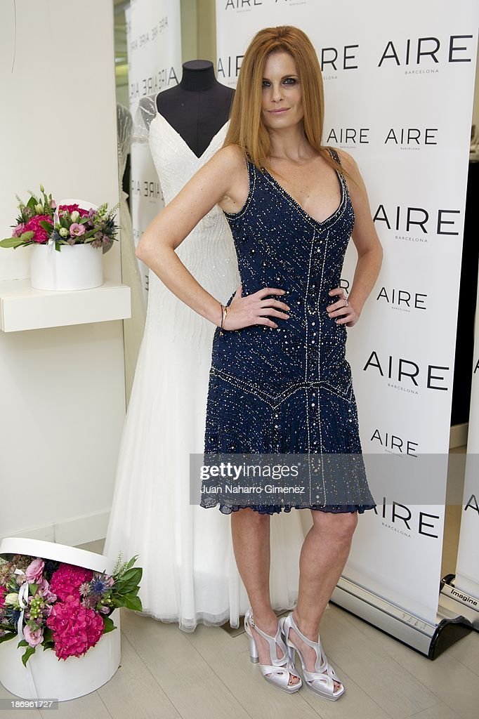 Olivia de Borbon attends Aire Barcelona new collection presentation at Aire Barcelona Store on November 5, 2013 in Madrid, Spain.