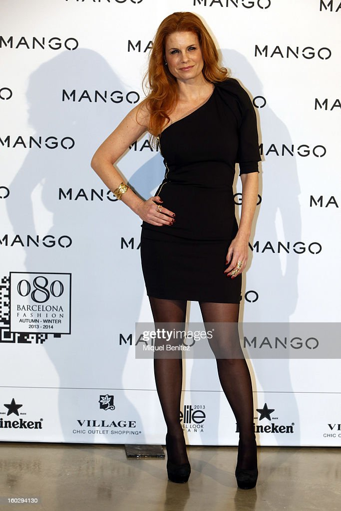 Olivia de Borbon attends the photocall at the Mango fashion show as part of the 080 Barcelona Fashion Week Autumn/Winter 2013-2014 on January 28, 2013 in Barcelona, Spain.