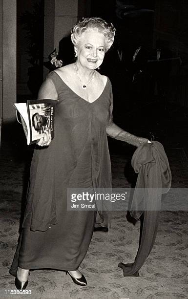 Olivia de Havilland during American Film Institute Honors Gregory Peck at Beverly Hilton Hotel in Beverly Hills CA United States