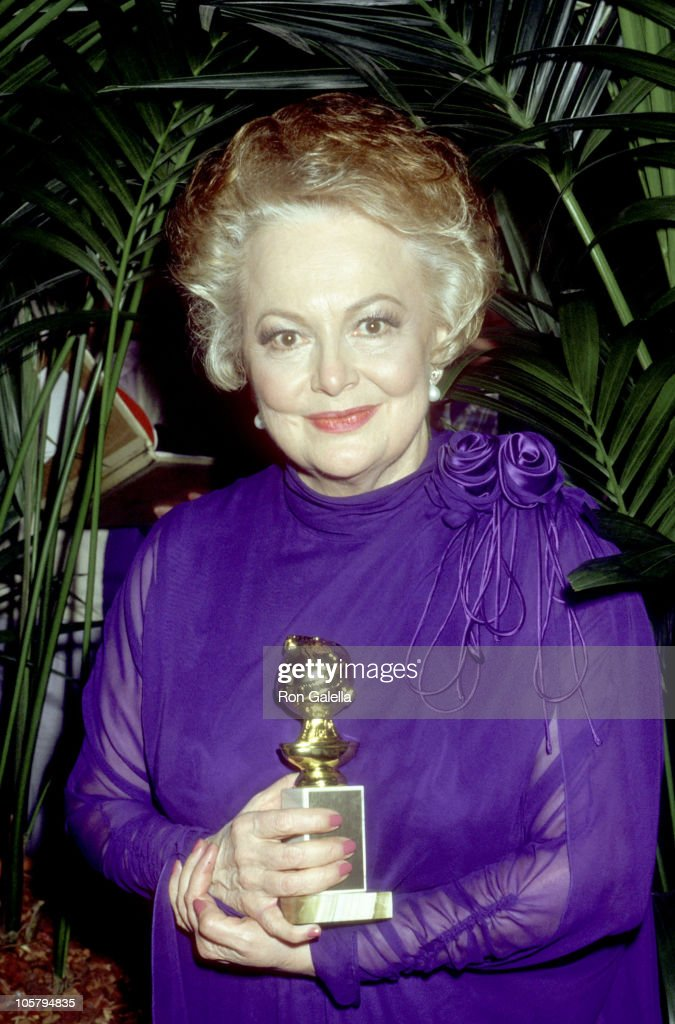 Olivia de Havilland during The 44th Annual Golden Globe Awards at Beverly Hilton Hotel in Beverly Hills, California, United States.