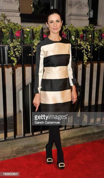 Olivia Firth attends a gala dinner hosted by the BFI ahead of the 57th London Film Festival at 8 Northumberland Avenue on October 8 2013 in London...