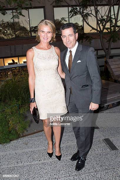 Olivia Flatto and Adam Flatto attend the Anual Fundraising Event at Diller von Furstenberg Sundeck on September 16 2015 in New York City