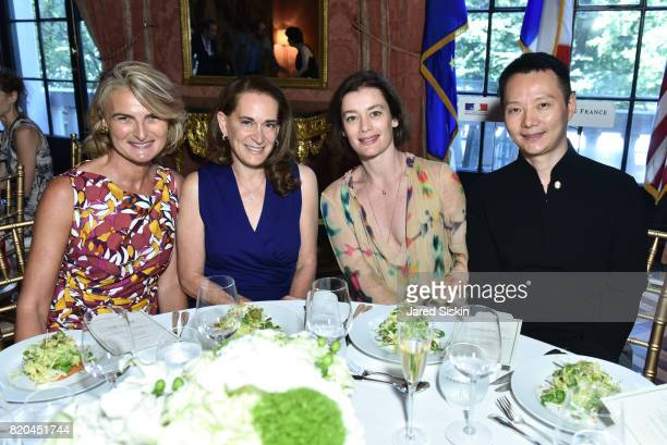 Olivia Flatto Debora Spar Aurelie Dupont and Shen Wei attend the American Friends of the Paris Opera Ballet Luncheon in honor of the Paris Opera...