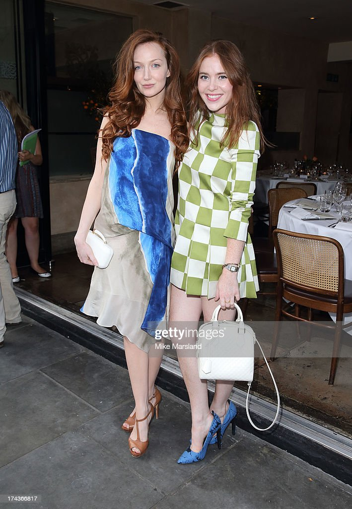 Olivia Grant and Angela Scanlon attend Daphne's evening of dinner & dancing at Daphne's on July 24, 2013 in London, England.