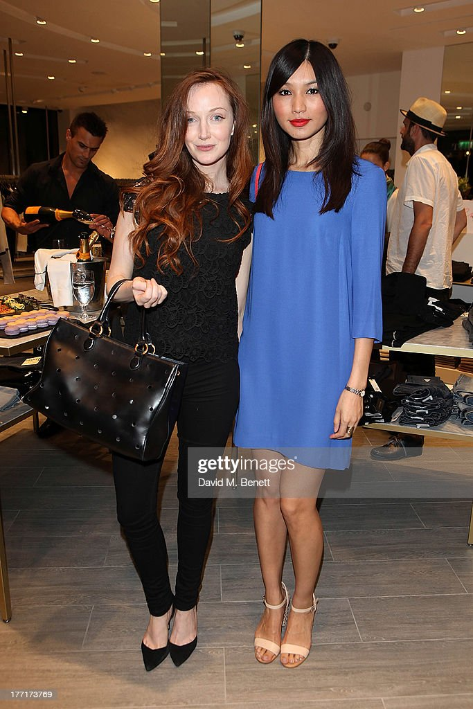Olivia Grant and Gemma Chan attend the Trilogy flagship store launch party on August 21, 2013 in London, United Kingdom.