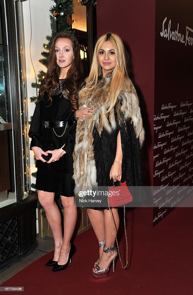 Olivia Grant and Zara Martin attends the flagship store launch of Salvatore Ferragamo's Old Bond Street Boutique at 24 Old Bond Street on December 5, 2012 in London, England.