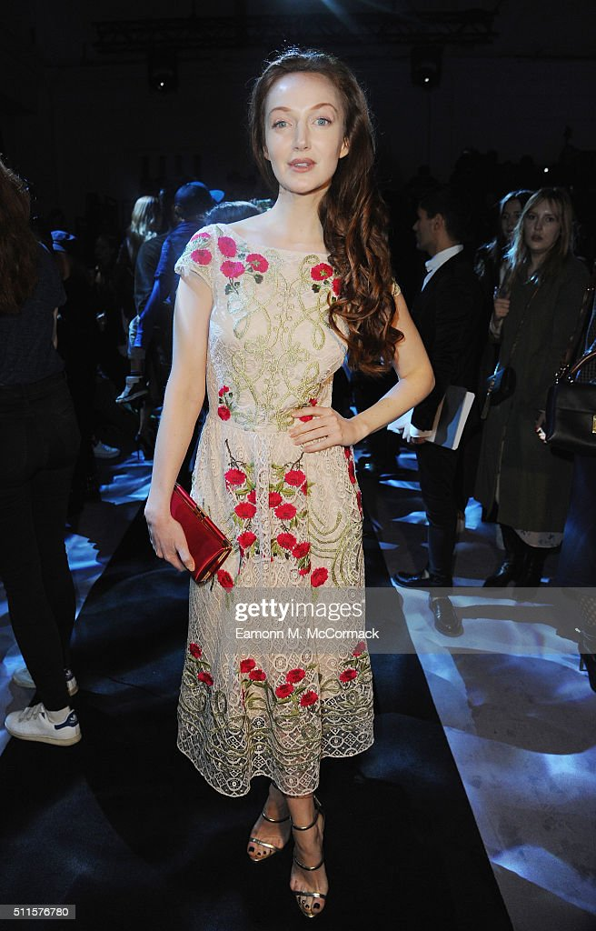 Olivia Grant attends the Temperley show during London Fashion Week Autumn/Winter 2016/17 on February 21, 2016 in London, England.