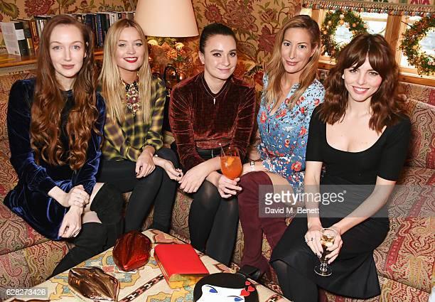Olivia Grant Laura Whitmore Gizzi Erskine Laura Pradelska and Ophelia Lovibond attend as Lulu Guinness Jasmine Guinness celebrate Christmas with...