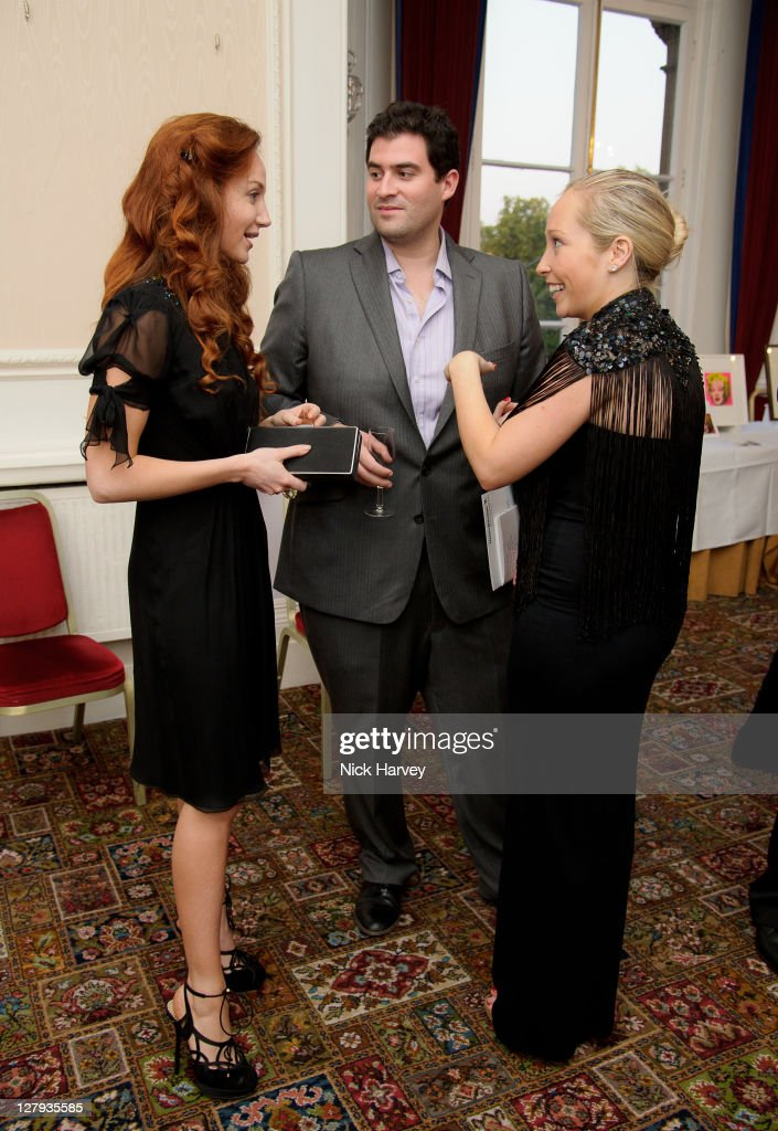 Olivia Grant, Zafar Rushdie and Cordelia Nevill-Spencer attend the fundraising event to benefit The Helen Bamber Foundation at Bonhams on October 3, 2011 in London, England.