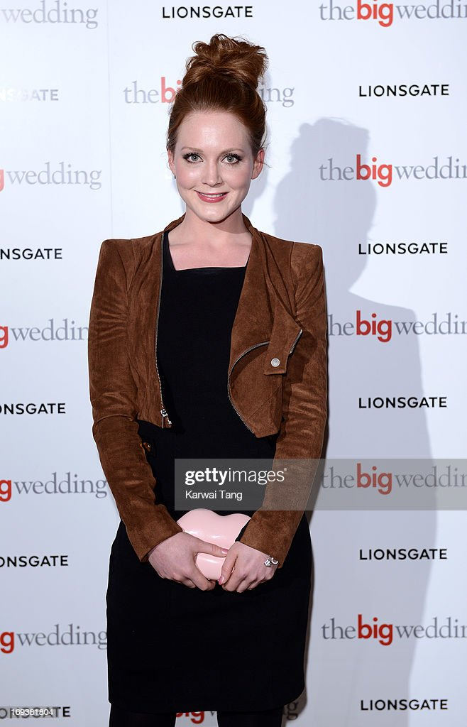 Olivia Hallinan attends a special screening of 'The Big Wedding' at May Fair Hotel on May 23, 2013 in London, England.