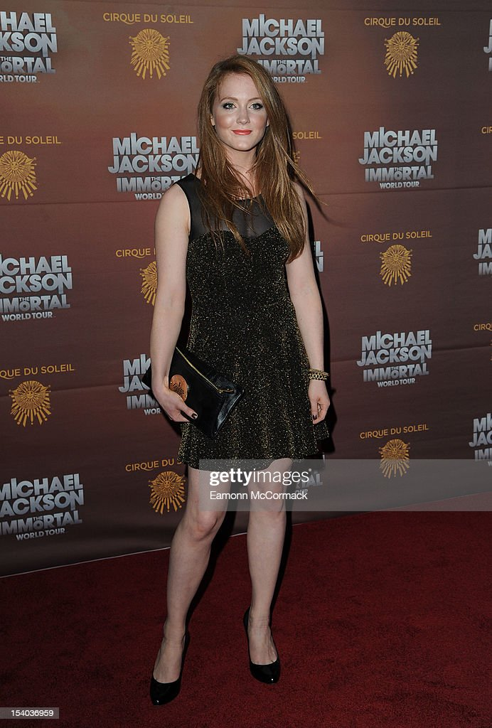 Olivia Hallinan attends the opening night of Cirque Du Soleil's 'Michael Jackson The Immortal World Tour' at 02 Arena on October 12, 2012 in London, England.