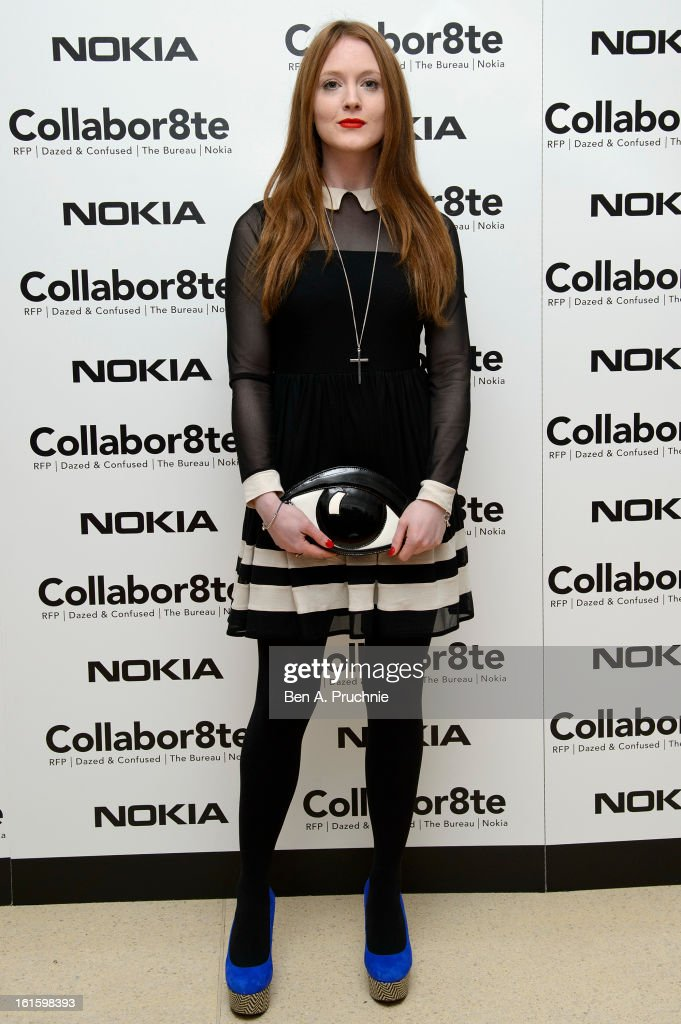 Olivia Hallinan attends the premiere of Rankin's Collabor8te connected by NOKIA at Regent Street Cinema on February 12, 2013 in London, England.