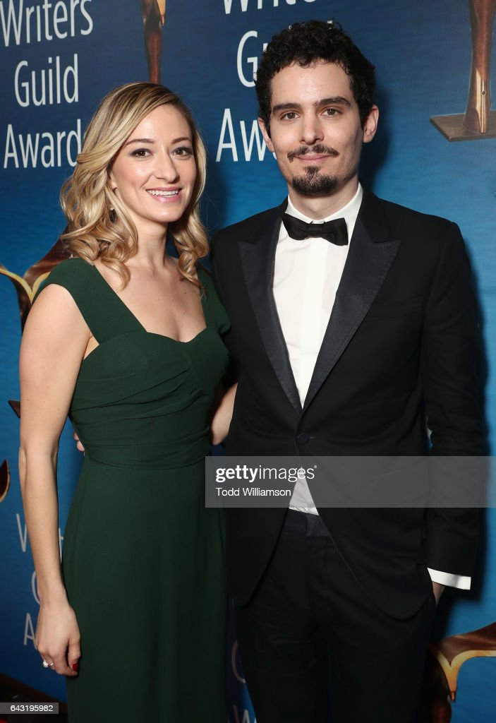 Olivia Hamilton and Damien Chazelle attend the 2017 Writers Guild Awards L.A. Ceremony at The Beverly Hilton Hotel on February 19, 2017 in Beverly Hills, California.