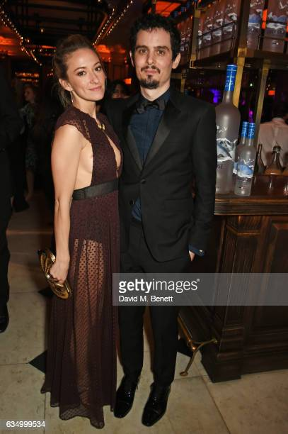 Olivia Hamilton and Damien Chazelle attend The Weinstein Company Entertainment Film Distributors Studiocanal 2017 BAFTA After Party in partnership...