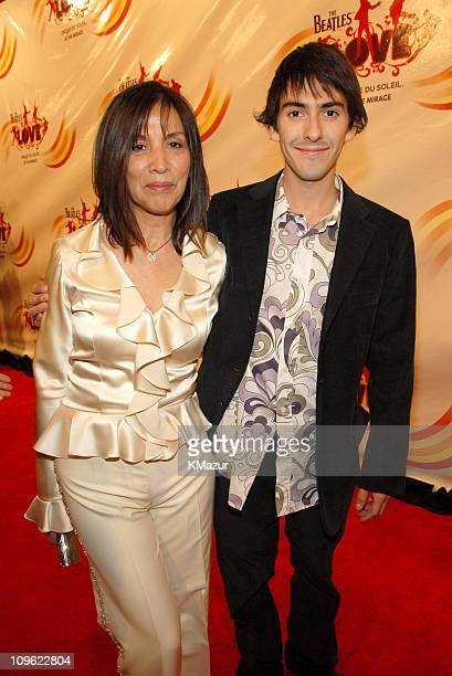 Olivia Harrison and son Dhani Harrison