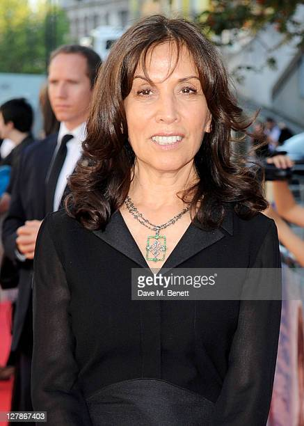 Olivia Harrison arrives at the UK Premiere of 'George Harrison Living In The Material World' at BFI Southbank on October 2 2011 in London England