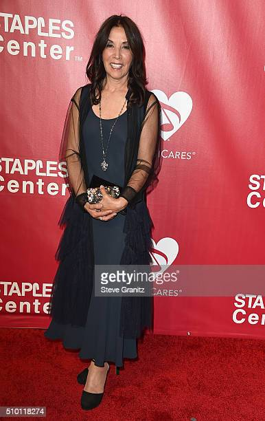 Olivia Harrison attends the 2016 MusiCares Person of the Year honoring Lionel Richie at the Los Angeles Convention Center on February 13 2016 in Los...
