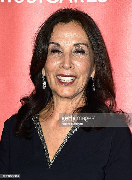 Olivia Harrison attends the 25th anniversary MusiCares 2015 Person Of The Year Gala honoring Bob Dylan at the Los Angeles Convention Center on...