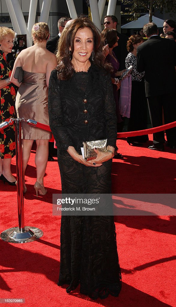 <a gi-track='captionPersonalityLinkClicked' href=/galleries/search?phrase=Olivia+Harrison&family=editorial&specificpeople=215034 ng-click='$event.stopPropagation()'>Olivia Harrison</a> attends The Academy Of Television Arts & Sciences 2012 Creative Arts Emmy Awards at the Nokia Theatre L.A. Live on September 15, 2012 in Los Angeles, California.
