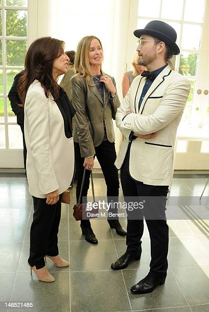 Olivia Harrison Barbara Bach and Sean Lennon attend a Council Reception launching Yoko Ono's exhibition 'To The Light' at The Serpentine Gallery on...