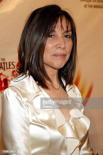 Olivia Harrison during 'LOVE' Cirque du Soleil Celebrates the Musical Legacy of The Beatles Red Carpet at The Mirage Hotel and Casino in Las Vegas...